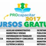 ProCapacitar 2017 abre Inscrições para 18 Cursos Totalmente Gratuitos