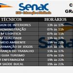 Cursos Técnicos  SENAC Gratuito  EAD 01/2020. Veja  quais são os cursos, e como fazer sua Inscrição.