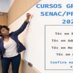 Inscrições abertas para os cursos técnicos gratuitos EAD e Presencial SENAC 2020/1.